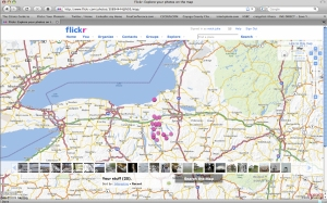Flikr map with photos and video of Cayuag County points of interest